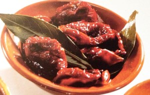 Healthy appetizers, chili peppers