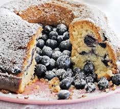 Blueberry coconut cake! Yummy!
