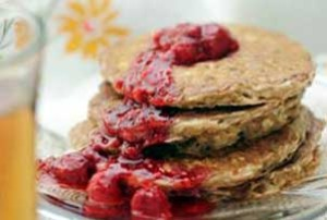 Buttermilk Oatcake with Raspberries Compote