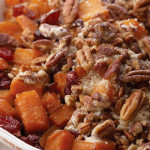 Pecan in two different dishes for Thanksgiving