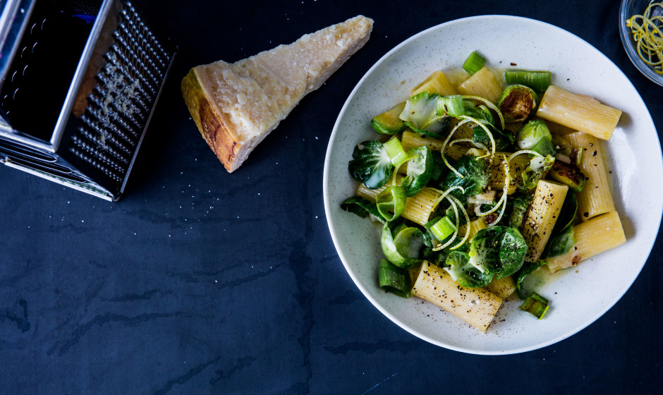 Rigatoni with Brussels Sprouts and not only